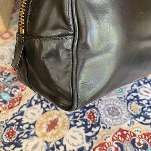 Prada Bags - Auth Prada leather embossed logo shoulder bag tote